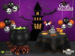 Sims 4 — Goul halloween 2020 by jomsims — Goul halloween 2020 new halloween set for your Sims 4. tabel . cauldron