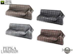 Sims 4 — Pepka livingroom  blanket deco for sofa by jomsims — Pepka livingroom blanket deco for sofa