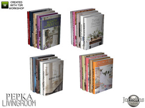 Sims 4 — Pepka livingroom books deco by jomsims — Pepka livingroom books deco