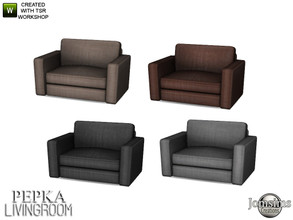 Sims 4 — Pepka livingroom livingchair by jomsims — Pepka livingroom livingchair