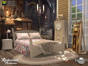 Sims 4 — Raizonda bedroom by jomsims — Raizonda bedroom new bedroom for your Sims 4. double bed. blanket bed. cushions