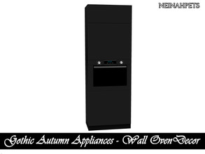 Sims 4 — Gothic Autumn Appliances - Wall Oven Decor {Mesh Required} by neinahpets — A wall oven unit (decor).
