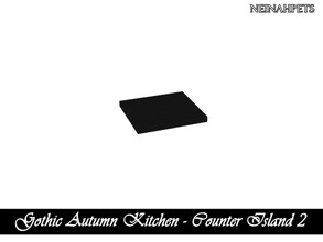 Sims 4 — Gothic Autumn Kitchen - Counter Island II {Mesh Required} by neinahpets — A black counter island v2.