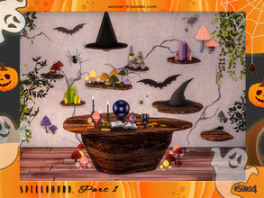 Sims 4 — Spellbound Part 1 by Winner9 — Spellbound set made specially for modern witches who prefer working from home