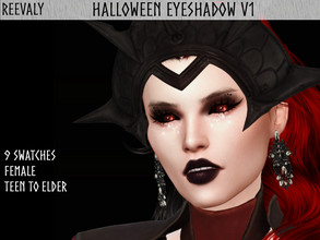 Sims 4 — Halloween Collabration with PlayersWonderland V4 by Reevaly — 9 Swatches. Teen to Elder. For Female. Base Game