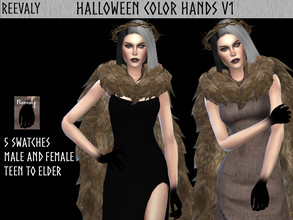 Sims 4 — Halloween Collabration with PlayersWonderland V5 by Reevaly — 5 Swatches. Teen to Elder. For Male and Female.