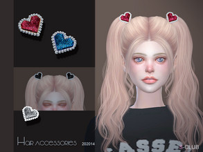 Sims 4 — S-Club LL ts4 Hair Accessories 202014 by S-Club — The heart Accessories hope you like, thank you. Classified in