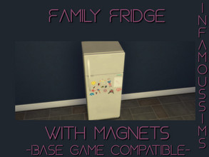 Sims 4 — Family Fridge by INFAMOUSSIMS18 — -Base Game Compatible Has cute Magnets on it