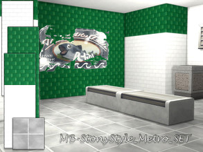 Sims 4 — MB-StonyStyle_Metro_SET by matomibotaki — MB-StonyStyle_Metro underground/subway wall and floor set, with white
