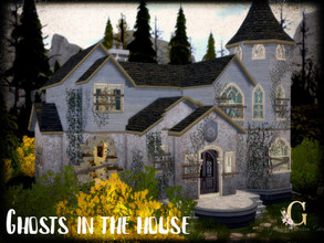 Sims 4 — Ghosts in the house by GenkaiHaretsu — Old ruined house with ghosts, but, who dont like live in house like this?