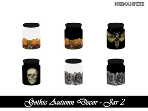 Sims 4 — Gothic Autumn Decor - Jar II {Mesh Required} by neinahpets — A small kitchen jar with a gothic autumn design. 6