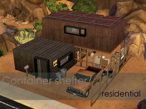Sims 4 — Container shelter by Anny_M4 — Here is a small container shelter for one or two sims,who spend a lot of time on