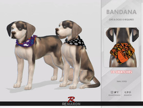 Sims 4 — Halloween Bandana for Small Dogs 01 - Cats & Dogs needed by remaron — -10 Swatches available -Custom CAS