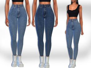 Sims 4 — HM High Waist Fit Jeans by saliwa — HM High Waist Fit Jeans Design by Saliwa 2 colours