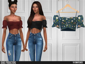 Sims 4 — ShakeProductions 541 - Top by ShakeProductions — Tops/Blouses New Mesh All LODs Handpainted 13 Colors
