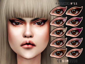 Sims 4 — COSIMETIC Eyeliner N11 by cosimetic — - This eyeliner can use on all genders and from teen to elder. - Contains