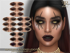 Sims 4 — FRS Spider Eyeshadow by FashionRoyaltySims — Standalone Custom thumbnail 12 swatches HQ texture Compatible with