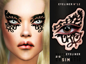 Sims 4 — COSIMETIC Eyeliner N12 ( Inspired by LADY GAGA ) by cosimetic — - This eyeliner can use on all genders and from
