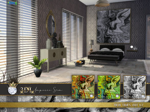 Sims 4 — 3DL Imperio Sim New Times Art v2 by eddielle — Make a huge impact on your Sim's home with this beautiful