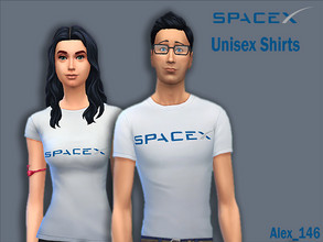 Sims 4 — SpaceX Shirts by alex_12345 — Colours: 7 Base Game Compatible Size: 757 kb