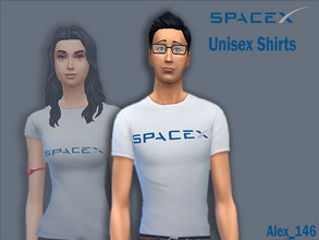 Sims 4 — SpaceX Shirts - Male by alex_12345 — Colours: 7 Base Game Compatible Size: 396 kb
