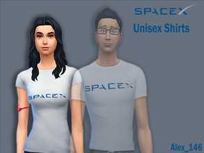 Sims 4 — SpaceX Shirts - Female by alex_12345 — Colours: 7 Base Game Compatible Size: 361 kb