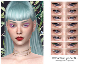 Sims 4 — LMCS Halloween Eyeliner N8 (HQ) by Lisaminicatsims — -New Mesh -HQ Compatible -8 Swatches -All Skin