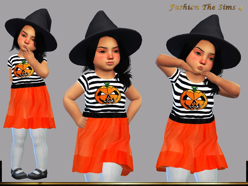 Sims 4 — Dress Bia baby by LYLLYAN — Dress in 4 colors. You must own the latest toddler stuff pack to be able to see this