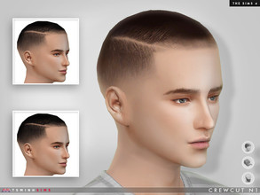 Sims 4 — Crewcut N1 by TsminhSims — Available in HAIR / HAT / FACIAL HAIR category. 16 colors. You can combine this with