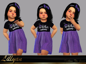 Sims 4 — Dress baby Any by LYLLYAN — Dress in 1 model. You must own the latest toddler stuff pack to be able to see this