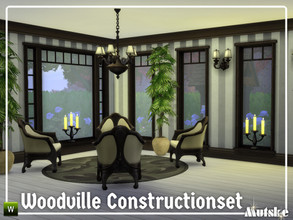 Sims 4 — Woodville Constructionset Part 1 by Mutske — This is the first part of the Woodville Construction. These are