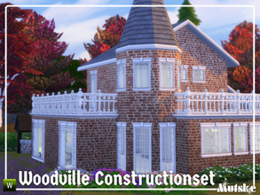 Sims 4 — Woodville Constructionset Part 2 by Mutske — This is the second part of the Woodville Construction. These are