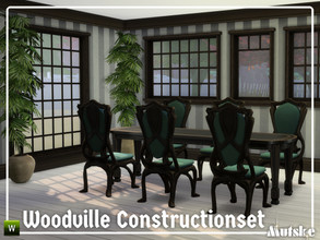 Sims 4 — Woodville Constructionset Part 3 by Mutske — This is the third part of the Woodville Construction. These are