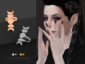 Sims 4 — Moon Phase rings | Simblreen 2020 by sugar_owl — All in one set with 2 versions: left or right hand. - new mesh