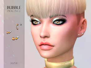 Sims 4 — [Suzue] Bubble Piercings by Suzue — * New Mesh (Suzue) * 5 Swatches * For Female and Male (Teen to Elder) * HQ