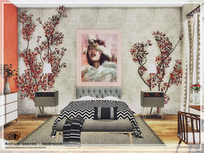 Sims 4 — Autum secret - bedroom by Danuta720 — This room can be the main bedroom in the house or a room for an adult