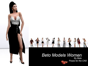 Sims 4 — Beto Models Women (Poses for the CAS) by Beto_ae0 — Female poses for the CAS work with Lazy trait, I hope you