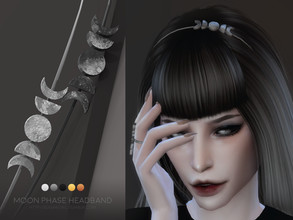 Sims 4 — Moon Phase headband | Simblreen 2020 by sugar_owl — - new mesh with two versions to fit as many hairstyles as