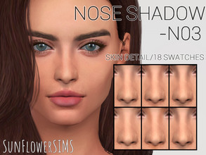 Sims 4 — Nose shadow N03 by _SunFlowerSIMS_ — - Skin detail - 6 Colors, 18 swatches - Male and Female