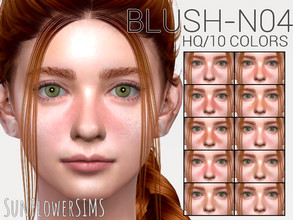 Sims 4 — Nose blush N04 by _SunFlowerSIMS_ — - HQ MOD - 10 swatches - Male and Female (all ages)