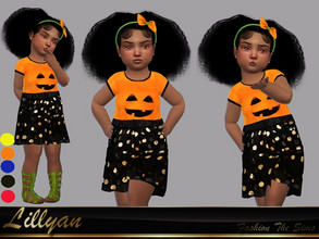 Sims 4 — Dress Silvia baby by LYLLYAN — Dress in 5 colors. You must own the latest toddler stuff pack to be able to see