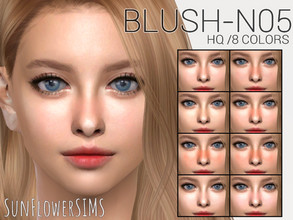 Sims 4 — Blush N05 by _SunFlowerSIMS_ — - HQ MOD - 8 swatches - Male and Female (all ages)