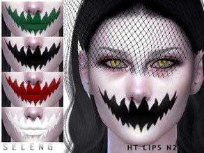 Sims 4 — Ht Lips N2 by Seleng — Teen to Elder Female and male 6 colours Custom Thumbnail HQ mod compatible The picture