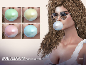 Sims 4 — S-Club ts4 WM bubblegum 202001 by S-Club — Bubble gum, 5 swatches, I don't make the textures as transparent