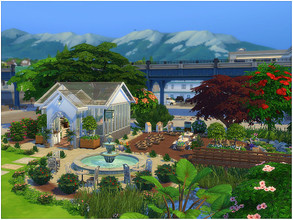 Sims 4 — Green Land by lotsbymanal — Community garden with a landscape design, hope you like it..