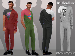 Sims 4 — Belaloallure_Elton jumpsuit by belal19972 — Half worn jumpsuit for your sims ,enjoy :)