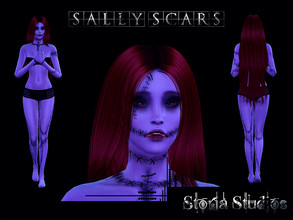 Sims 4 — Sally Scars by Storia_Studios — Sally Scars inspired by Sally Character from The Nightmare Before Christmas Skin