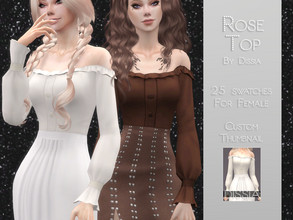 Sims 4 — Rose Top by Dissia — Rose Top 25 swatches Hope you like it ;)