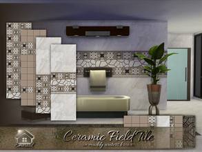 Sims 4 — Ceramic Field Tile in muddy waters brown by Emerald — Ceramic field tile is a perfect fit for your bathroom and