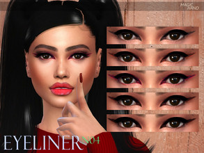 Sims 4 — [MH] Eyeliner N04 by MagicHand — --5 Swatches-- --Compatible with HQ settings-- --CAS thumbnail-- Enjoy!
